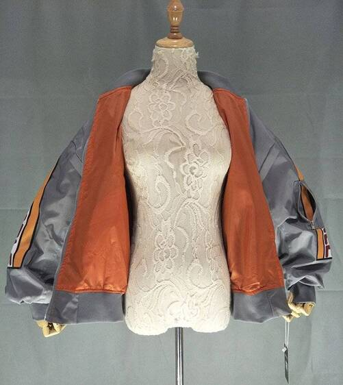 Loose Bomber Jacket with Patches Basic Jackets Jackets & Coats Women's Clothing & Accessories