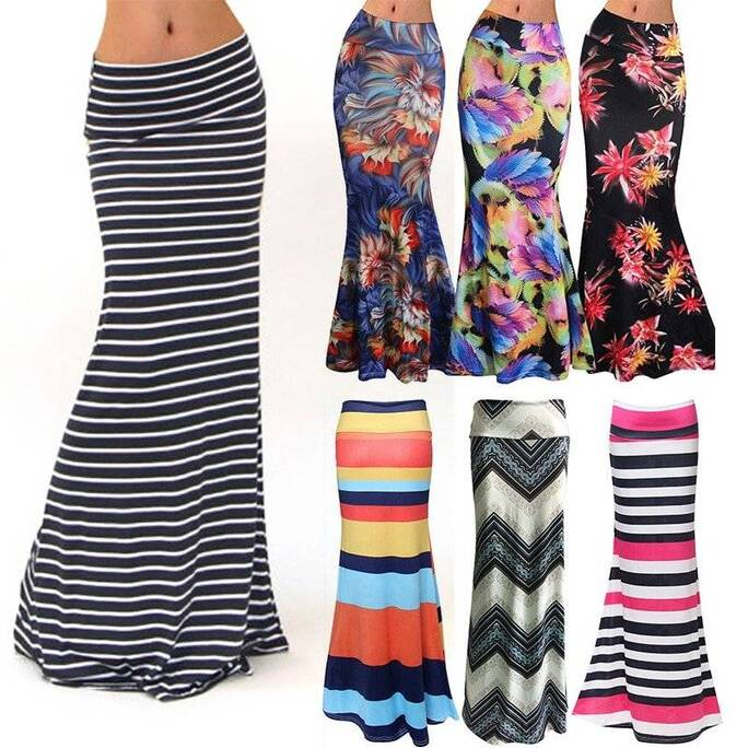 Maxi Pencil Skirt for Women Bottoms Skirts Women's Clothing & Accessories
