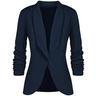 One-Buttoned Suit Jacket for Women Basic Jackets Jackets & Coats Women's Clothing & Accessories