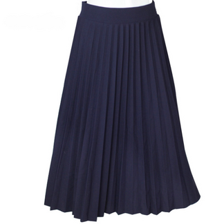 Vintage High-Waisted Knife-Pleated Women's Maxi Skirt Bottoms Skirts Women's Clothing & Accessories