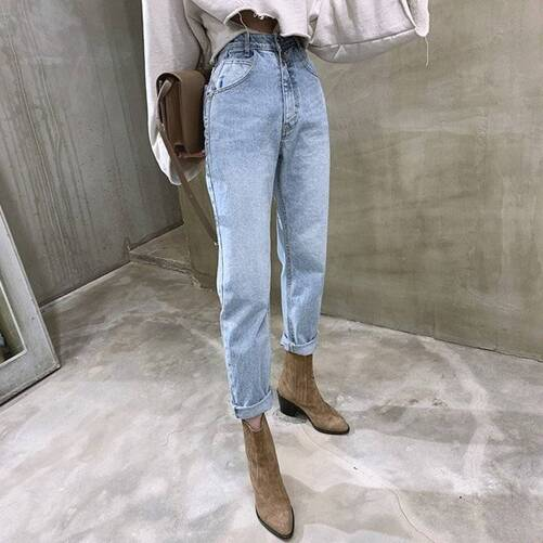 Vintage Loose Blue Jeans for Women Bottoms Jeans Women's Clothing & Accessories