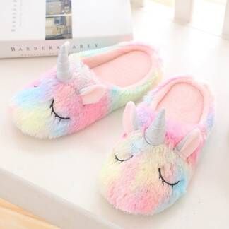 Warm Unicorn Shaped Slippers Slippers Women Shoes