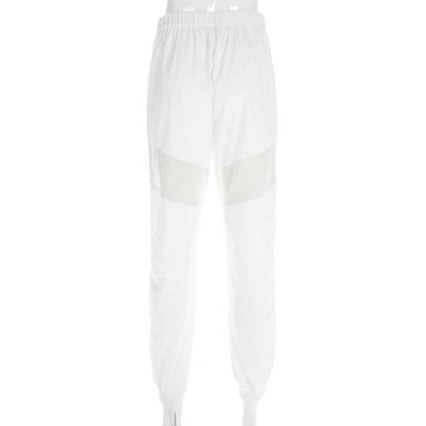 White Women's Pants with Mesh Detailing Bottoms Pants & Capris Women's Clothing & Accessories