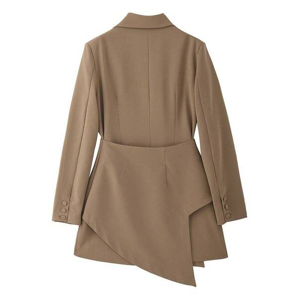 Women's Asymmetrical Button Blazer Basic Jackets Jackets & Coats Women's Clothing & Accessories