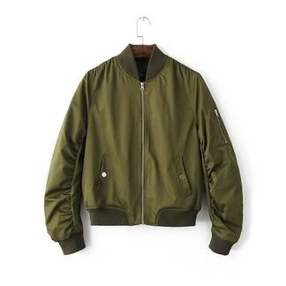 Women's Bomber Jacket in Classic Styling Basic Jackets Jackets & Coats Women's Clothing & Accessories