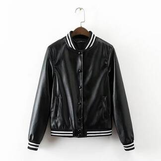 Women's Bomber Jacket with Stripe Details Basic Jackets Jackets & Coats Women's Clothing & Accessories