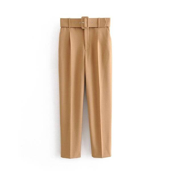 Women's Casual High Waisted Trousers with Belt Bottoms Pants & Capris Women's Clothing & Accessories