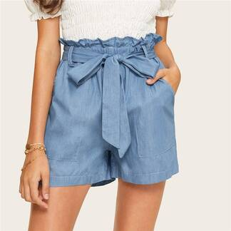 Women's Casual Style Blue Shorts Bottoms Shorts Women's Clothing & Accessories