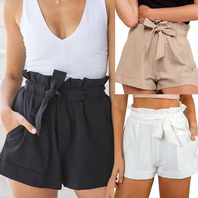 Women's Casual Style High Waist Shorts Bottoms Shorts Women's Clothing & Accessories