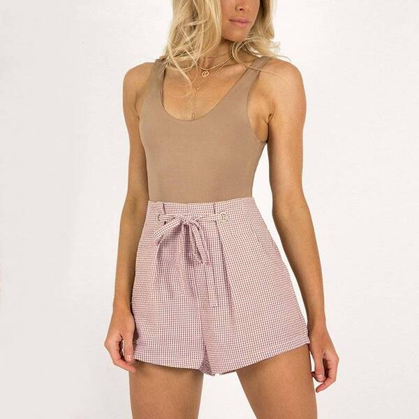 Women's Casual Tie Up Shorts Bottoms Shorts Women's Clothing & Accessories