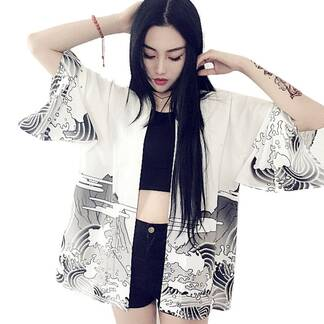 Women's Chinese Dragon Printed Jacket Basic Jackets Jackets & Coats Women's Clothing & Accessories