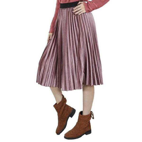 Women's Colorful Pleated Skirt Bottoms Skirts Women's Clothing & Accessories