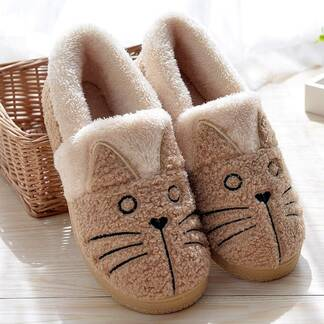 Women's Cute Cat Warm Home Slippers Slippers Women Shoes