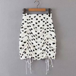 Women's Drawstring Bodycon Mini Skirt Bottoms Skirts Women's Clothing & Accessories