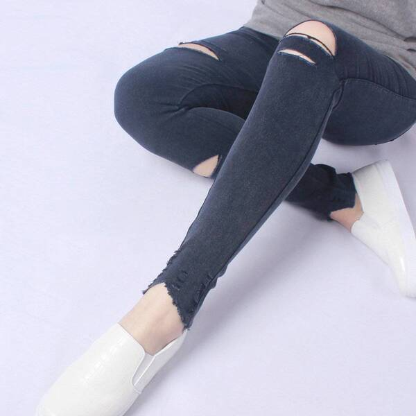 Women's Elastic Ripped Summer Pants Bottoms Pants & Capris Women's Clothing & Accessories