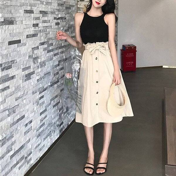 Women's Elegant High Waist Pleated Skirts Bottoms Skirts Women's Clothing & Accessories