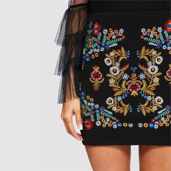 Women's Ethnic Style Bodycon Skirt Bottoms Skirts Women's Clothing & Accessories