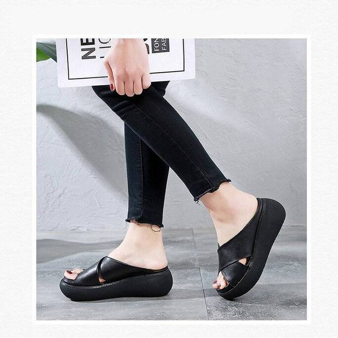 Women's High Solid Color Slippers Women Shoes Women's Flats