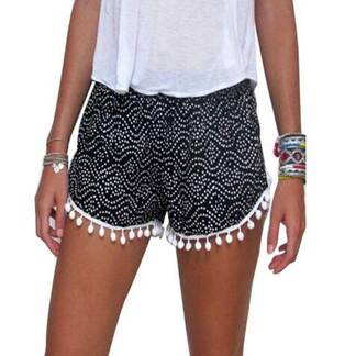 Women's High Waist Shorts With Tassels Bottoms Shorts Women's Clothing & Accessories