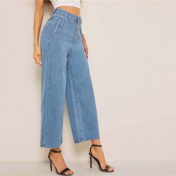 Women's High Waisted Culottes Jeans 2022 Bottoms Women's Clothing & Accessories