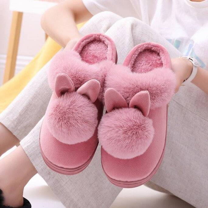 Women's Home Slippers with Rabbit Ears Slippers Women Shoes