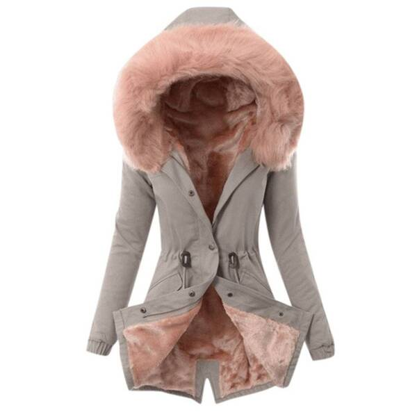 Women's Hooded Faux Fur Coat Basic Jackets Jackets & Coats Women's Clothing & Accessories