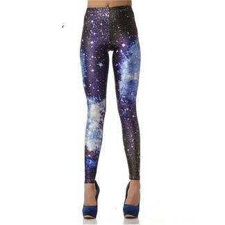 Women's Leggings with Galaxy Print Bottoms Leggings Women's Clothing & Accessories