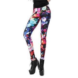Women's Leggings with Geometric Pattern Bottoms Leggings Women's Clothing & Accessories