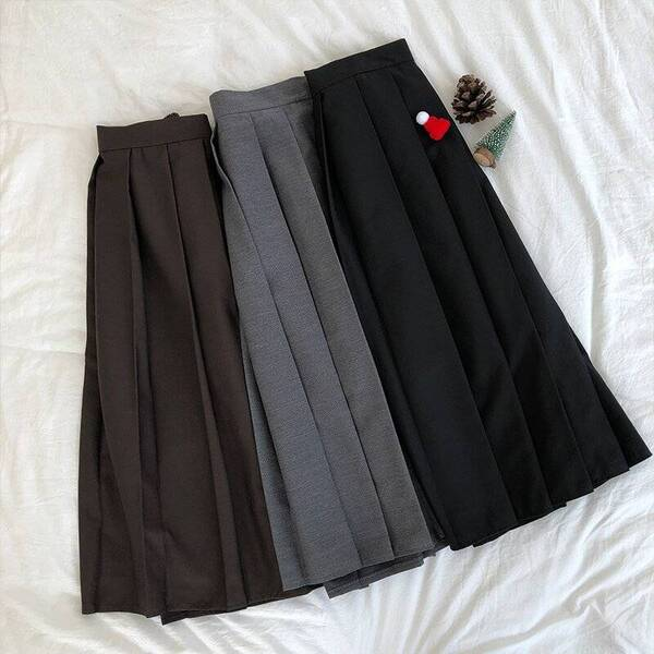 Women's Long Pleated Skirt Bottoms Skirts Women's Clothing & Accessories