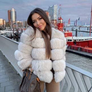 Women's Luxury Fox Fur Coat Coats Jackets & Coats Women's Clothing & Accessories