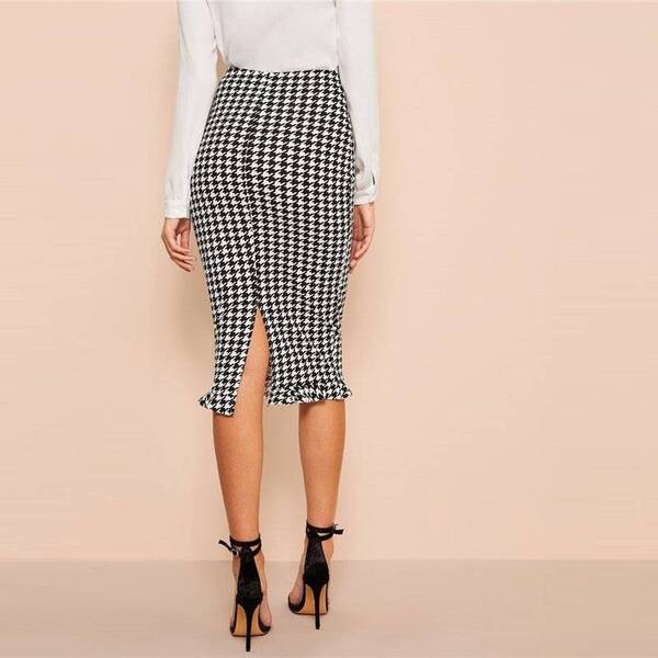 Women's Pencil Plaided Skirt Bottoms Skirts Women's Clothing & Accessories