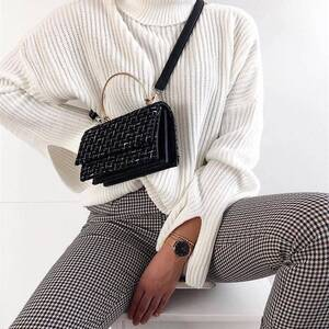 Women's Plaid High Waisted Trousers with Front Buttons Bottoms Pants & Capris Women's Clothing & Accessories
