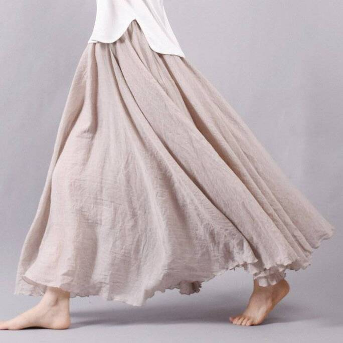 Women's Pleated Flare Maxi Skirt Bottoms Skirts Women's Clothing & Accessories