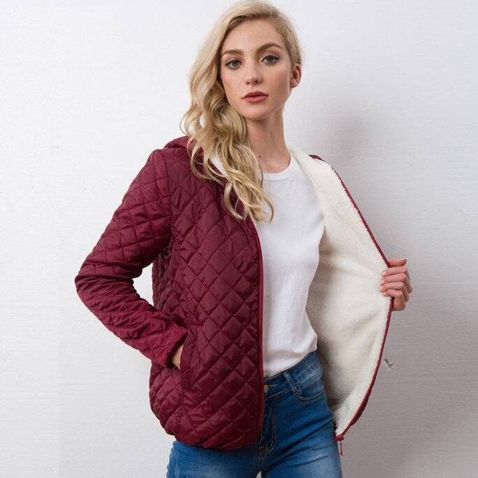 Women's Quilted Autumn Down Jacket Down Jackets Jackets & Coats Women's Clothing & Accessories