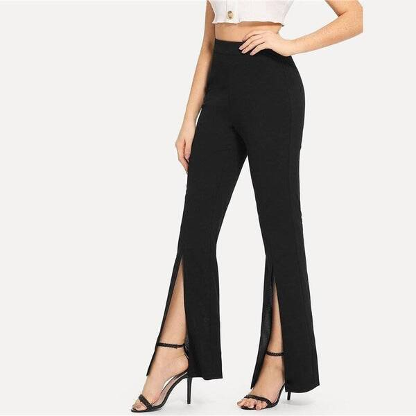 Women's Split Design Black Leggings Bottoms Leggings Women's Clothing & Accessories