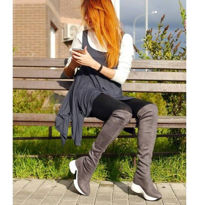 Women's Sport Chic Style Over the Knee Boots Women Shoes Women's Boots