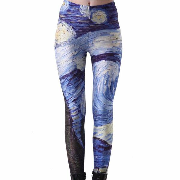 Women's Starry Night Printed Leggings Bottoms Leggings Women's Clothing & Accessories