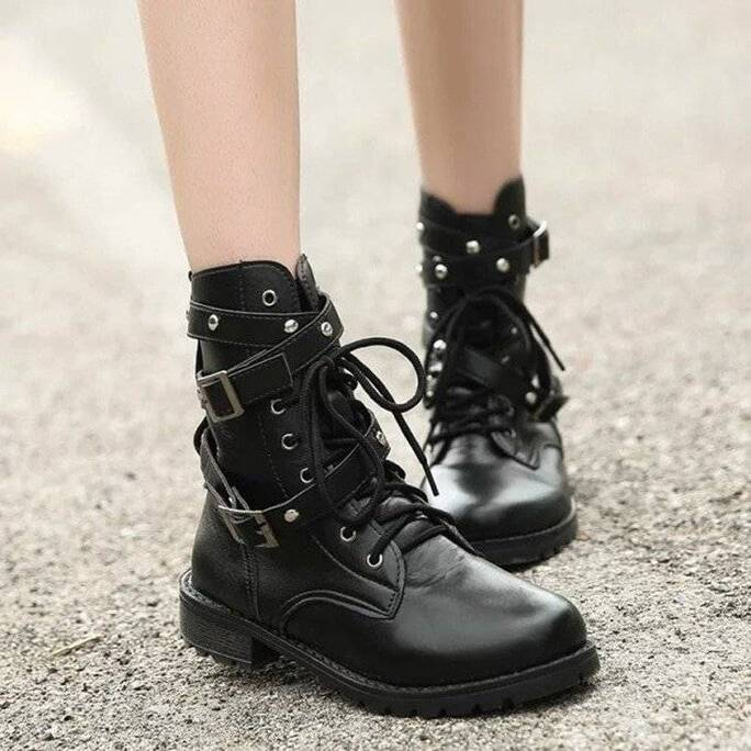 Women's Steampunk Military Boots Women Shoes Women's Boots