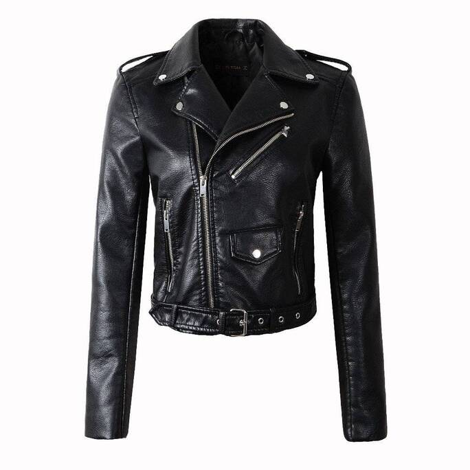 Women's Vintage Leather Jacket Basic Jackets Jackets & Coats Women's Clothing & Accessories