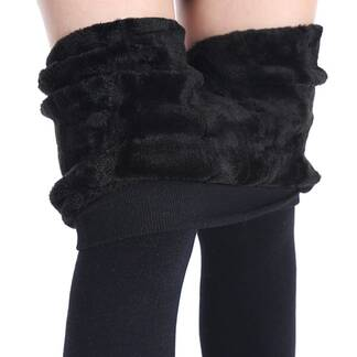 Women's Warm Leggings WIth Fur Bottoms Leggings Women's Clothing & Accessories