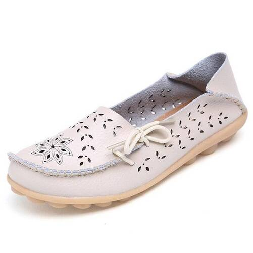 Women's Casual Summer Breathable Leather Loafers Women Shoes Women's Flats