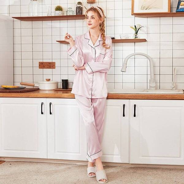 Classic Multicolored Women's Pajama Set Pajama Sets Sleepwear & Loungwear Women's Clothing & Accessories