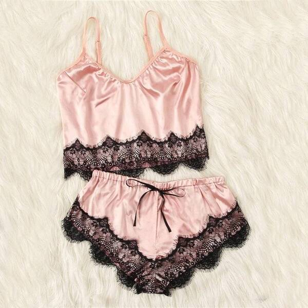 Colorful Lace Cami Set for Women Pajama Sets Sleepwear & Loungwear Women's Clothing & Accessories
