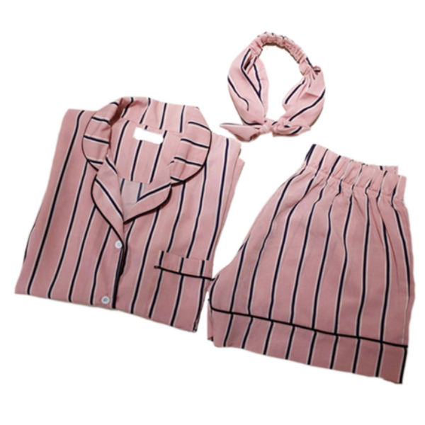 Cute Summer Striped Cotton Women's Pajamas Pajama Sets Sleepwear & Loungwear Women's Clothing & Accessories