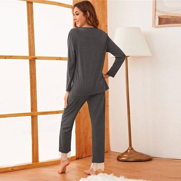 Grey Women's Pajama Pants and Top Pajama Sets Sleepwear & Loungwear Women's Clothing & Accessories