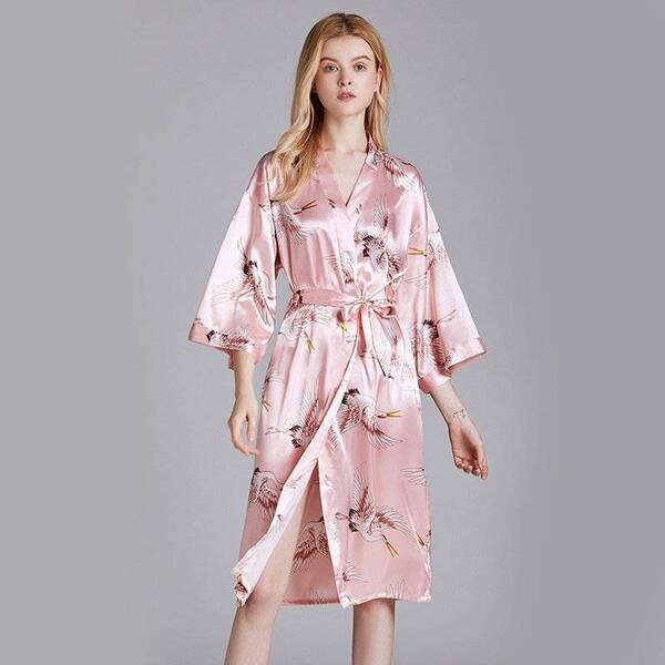 High-Quality Sexy Women's Kimono in Print Robes Sleepwear & Loungwear Women's Clothing & Accessories