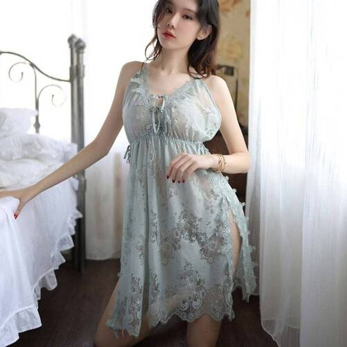 Lace Women's Negligee with Cut Outs Nightgowns & Sleepshirts Sleepwear & Loungwear Women's Clothing & Accessories