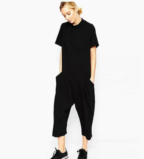 Oversized Black Jumpsuit for Women Jumpsuits Suits & Sets Women's Clothing & Accessories