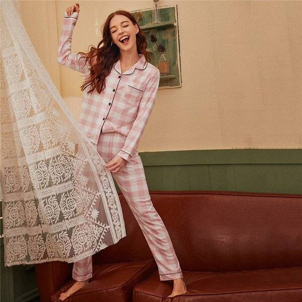 Plaid Women's Pajama Pants and Shirt Pajama Sets Sleepwear & Loungwear Women's Clothing & Accessories