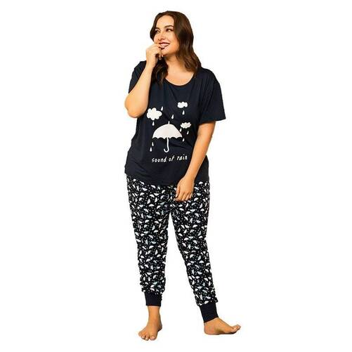 Plus Size Cotton Pajama Set for Women Pajama Sets Sleepwear & Loungwear Women's Clothing & Accessories